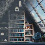 屋根裏の男の書斎