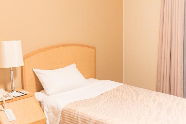 寝室のベットの写真です。