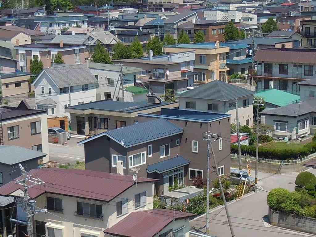 住宅街の画像です