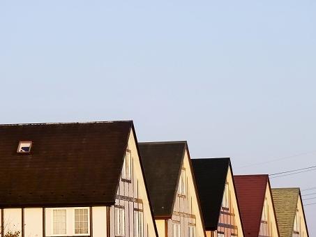 切妻屋根の画像です