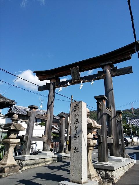 恩智神社鳥居の画像です