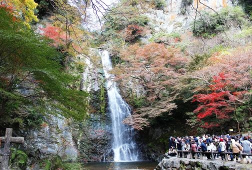 箕面の滝の画像です