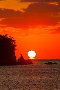 だるま夕日の画像です
