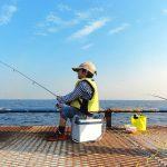 魚釣りの画像です
